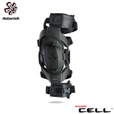 Asterisk Junior Cell Knee Protection System Youth (Black) Pair - One Size